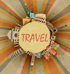 Travel abstract vector image