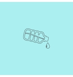 Water bottle with drop icon vector image vector image