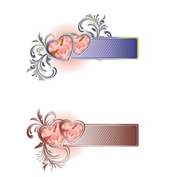 Lovely card with hearts vector image vector image