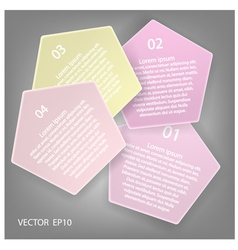 Minimal style infographic template vector image