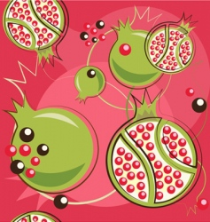 pomegranate pattern vector image vector image