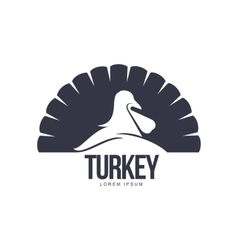 Stylized simplified turkey silhouette graphic logo vector image vector image