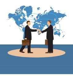 Two businessmen Handshake vector image vector image