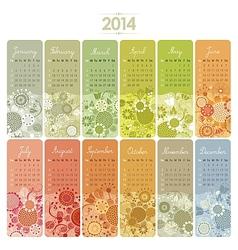 2014 Calendar Set vector image vector image
