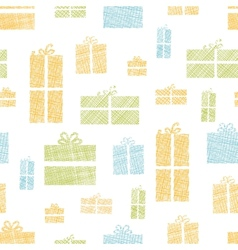 Colorful gift boxes textile texture seamless vector image