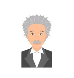 famous scientist portrait vector image