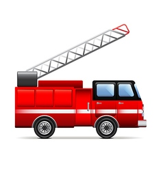 Fire engine isolated on white vector image vector image
