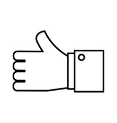 hand human like icon vector image