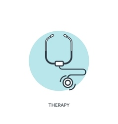 Stethoscope medical icon vector