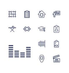 13 board icons vector