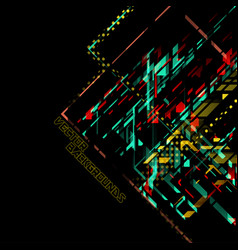 abstract colors concept on a black vector image