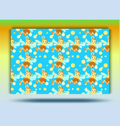 background bee patternset vector image