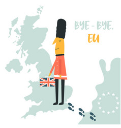 beefeater leaving eu and returning to uk vector image