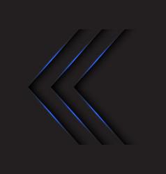 blue light arrows direction on black vector image