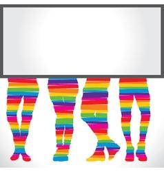 bottom wear fashion with blank board vector image