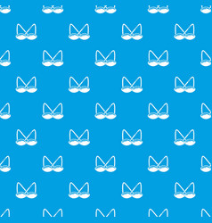 Brassiere sexy pattern seamless blue vector