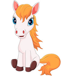 Cartoon horse sitting vector