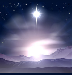Christmas star of bethlehem nativity vector