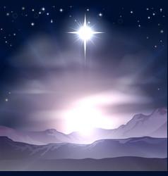 christmas star of bethlehem nativity vector image
