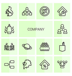 company icons vector image