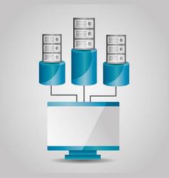 Computer and data base server sharing vector