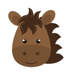 Cute little horse animal character vector