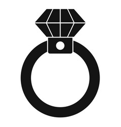 diamond ring icon simple style vector image