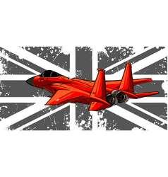 England flag with military jet vector