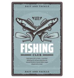 Fishing club poster vector