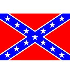 flag confederate states america vector image
