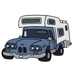 Funny small caravan vector