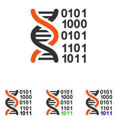 Genome code flat icon vector