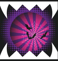 halloween bat poster vector image