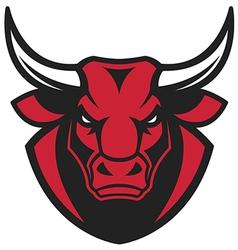 Head of a ferocious bull vector