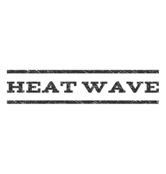 Heat wave watermark stamp vector