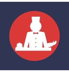 Hotel service round icon graphi vector