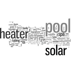 How to build your solar pool heater vector