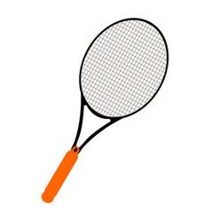 Isolated tennis racket vector
