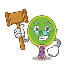 Judge ping pong racket mascot cartoon vector