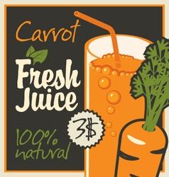 juice carrot vector image