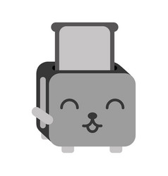 Kawaii bread toaster cartoon vector