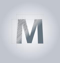 Letter m logo alphabet logotype architectural vector