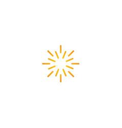 Line sun shine abstract logo vector