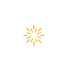 line sun shine abstract logo vector image