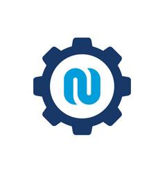 logo n symbols alphabet letter n vector image
