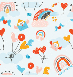 lovely childish seamless pattern very colorful vector image