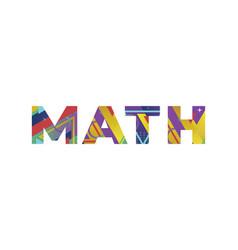 Math concept retro colorful word art vector