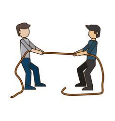 Men pulling rope vector