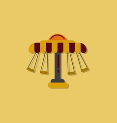 Merry-go-round icon in sticker style vector