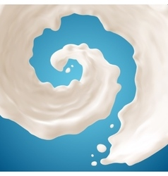 Milk splashes on blue background Gradient Mesh vector